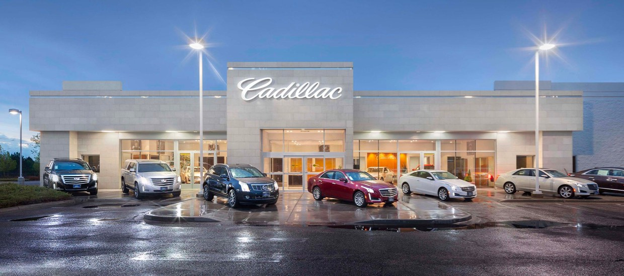 An image of a Cadillac dealership