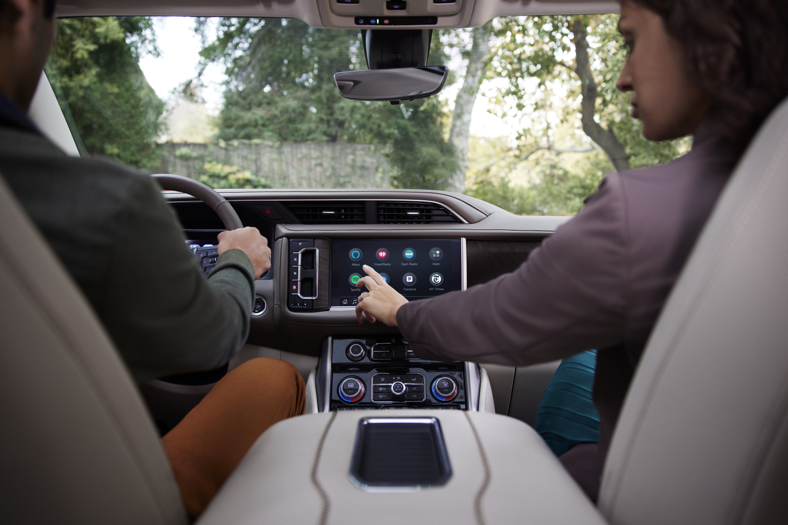 GMC driver using in-vehicle apps
