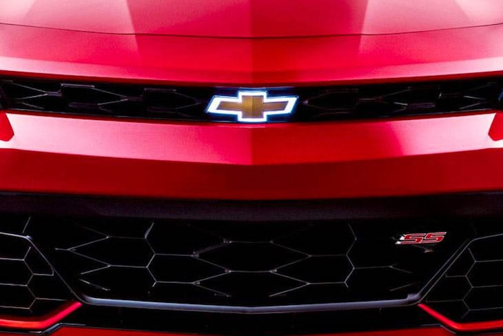 Chevrolet vehicle front grill and bowtie logo
